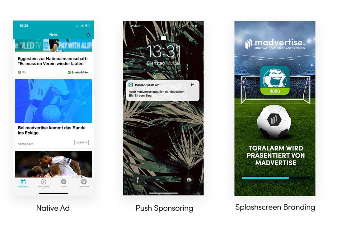EM App Formate: Native Ad, Push Sponsoring, Splashscreen Branding